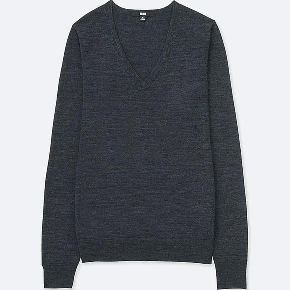 Uniqlo Sweaters - Uniqlo | Extra Fine Merino V Neck Sweater